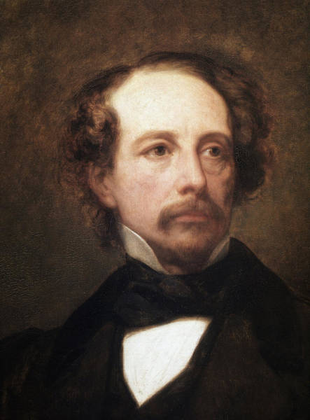 Wall Art - Painting - Portrait Of The British Writer Charles Dickens, Detail by Ary Scheffer