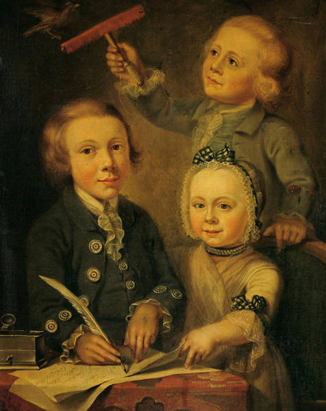 Painting - Portrait Of The Children Of Barend Goudriaan by Cornelis van Cuylenburgh