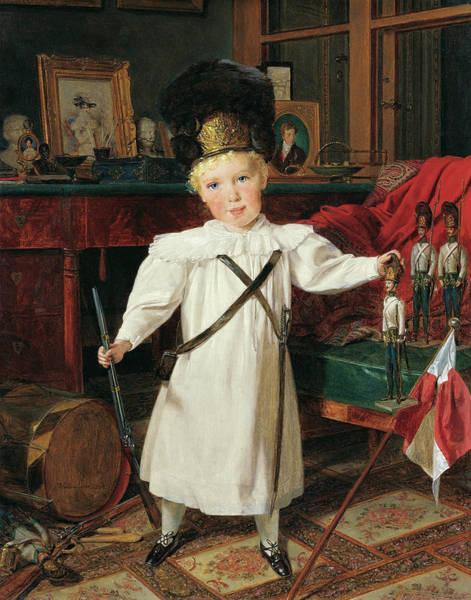 Wall Art - Painting - Portrait Of The Future Austrian Emperor, Franz Josef by Ferdinand Georg Waldmuller
