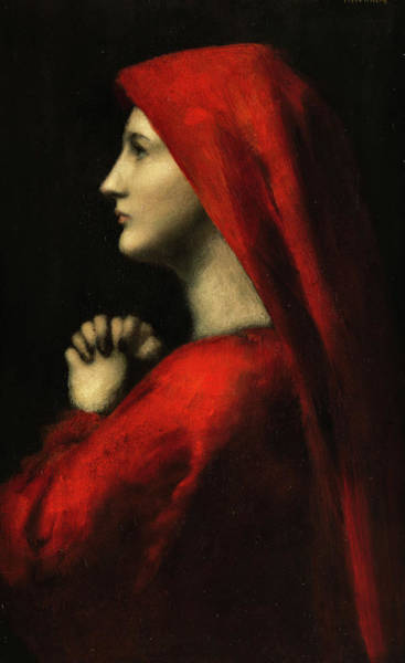 Painting - Portrait Of The Holy Fabiola Of Rome by Jean-Jacques Henner
