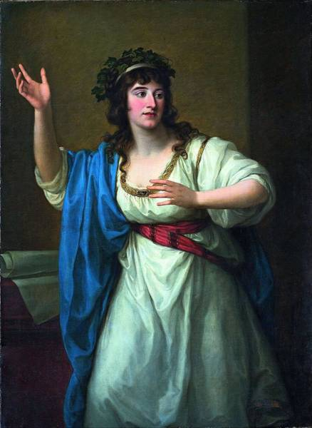 Wall Art - Painting - Portrait Of The Impromptu Virtuoso Teresa Bandettini Landucci Of Lucca  by Angelica Kauffmann