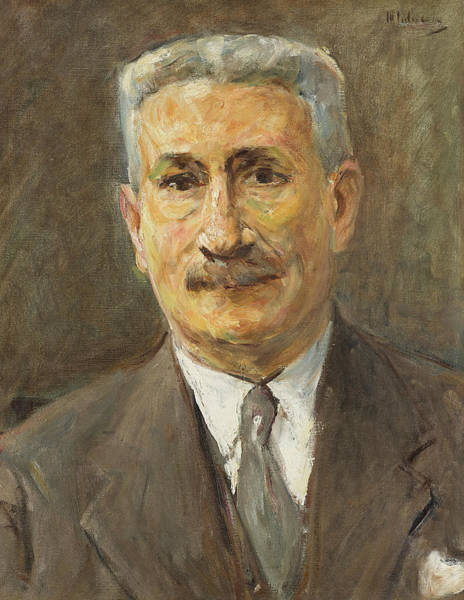 Merchant Painting - Portrait Of The Merchant Robert Neumann by Max Liebermann