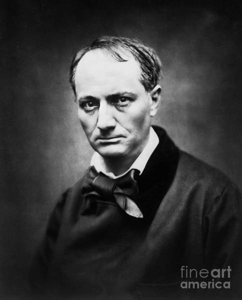 Wall Art - Photograph - Portrait Of The Poet Charles Baudelaire By Photographer Etienne Carjat by Etienne Carjat