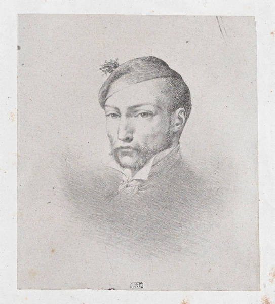 Drawing - Portrait Of Theodore Gericault by Leon Cogniet