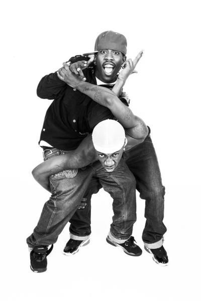 Hip Photograph - Portrait Of Two Hip Hop Dancers by Hans Neleman