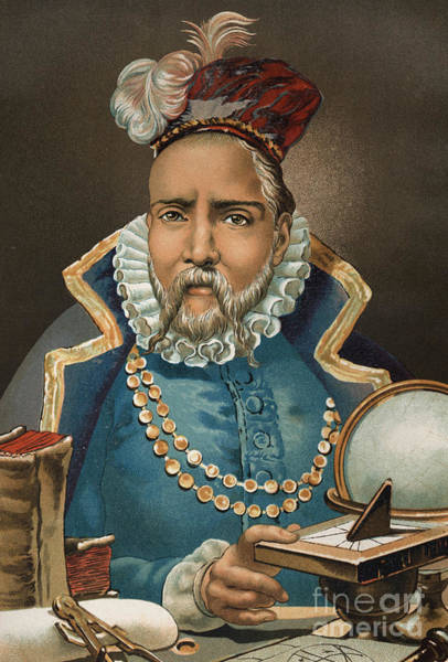 Wall Art - Painting - Portrait Of Tycho Brahe by European School