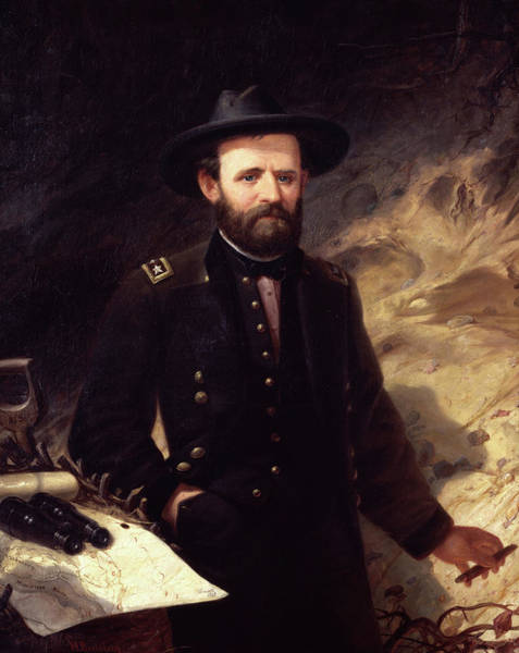 Wall Art - Painting - Portrait Of Ulysses S. Grant, 1865 by Ole Peter Hansen Balling