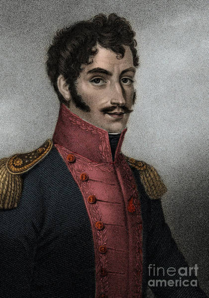Wall Art - Painting - Portrait Of Venezuelan Politician And Military Simon Bolivar  by European School