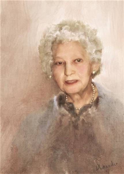 Painting - Portrait Of Victoria by Diane Chandler