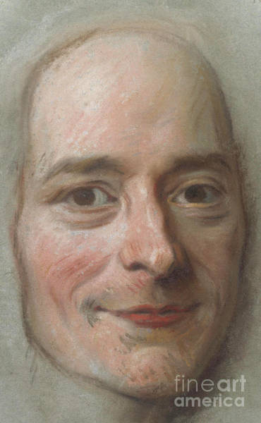 Wall Art - Pastel - Portrait Of Voltaire, Circa 1750 by Maurice Quentin de la Tour