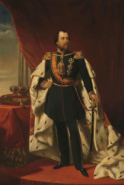 Painting - Portrait Of William IIi, King Of The Netherlands by Nicolaas Pieneman