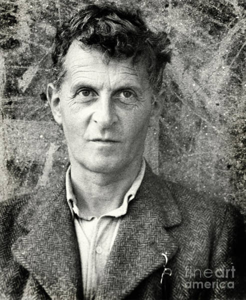 Wall Art - Photograph - Portrait Photo Of Ludwig Wittgenstein by English School