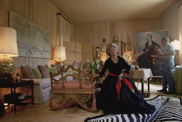 Photograph - Portrait Sitting by Slim Aarons
