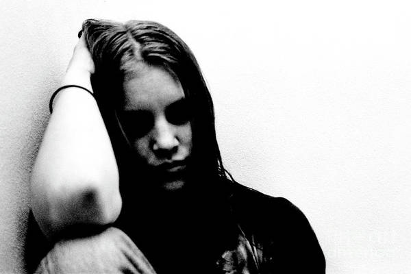 Wall Art - Photograph - Portrait Young Woman Feeling Very Depressed by Guido Koppes