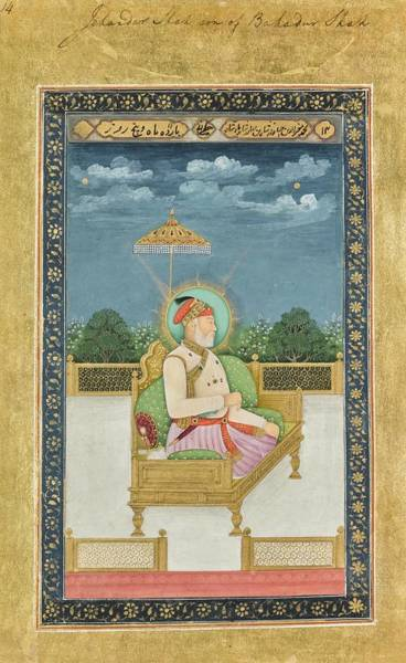 Wall Art - Painting - portraits of Mughal emperors and their ancestors, India, Delhi, late Mughal, early 19th century 2 by Celestial Images
