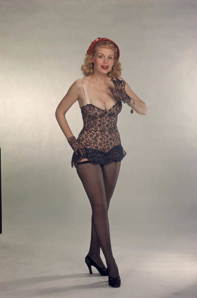 Photograph - Portrat Of Model Marie Wilson by Tom Kelley Archive