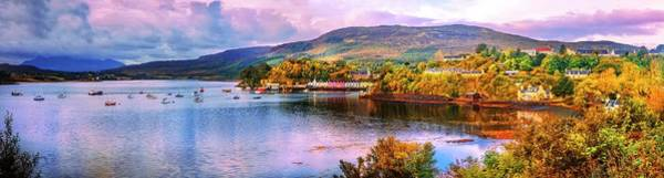 Photograph - Portree Scotland In Panorama by Debra and Dave Vanderlaan