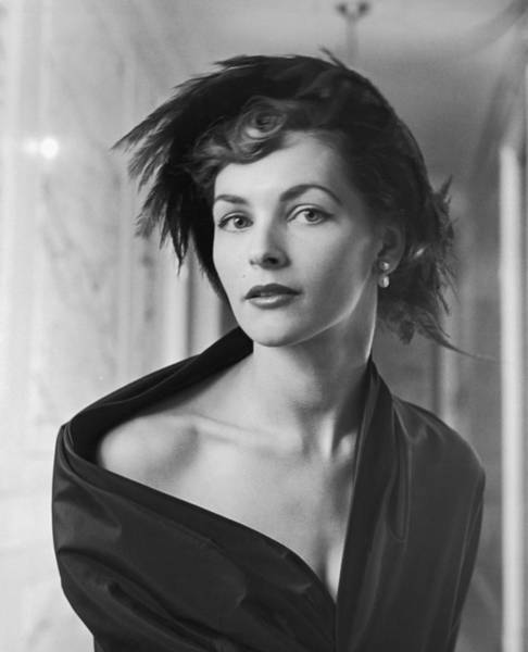Fashion Model Photograph - Portriat Of Model Georgia Hamilton by Nina Leen