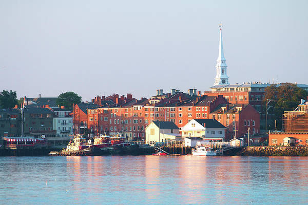 Wall Art - Photograph - Portsmouth Golden Skyline by Eric Gendron