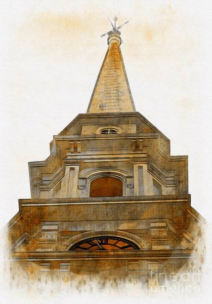 Wall Art - Photograph - Portsmouth North Church Steeple by Marcia Lee Jones