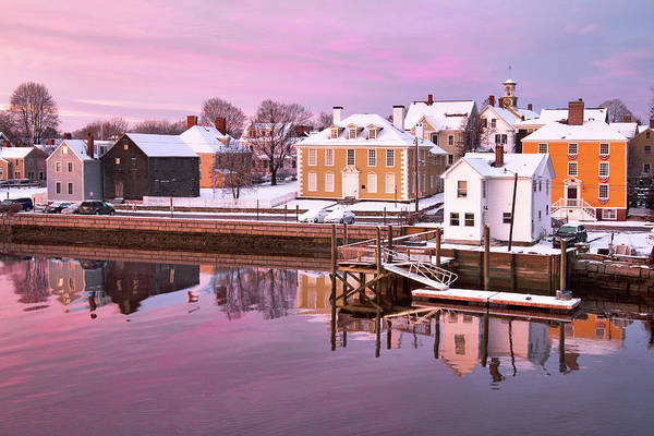 Wall Art - Photograph - Portsmouth Pink Winter Sunrise by Eric Gendron