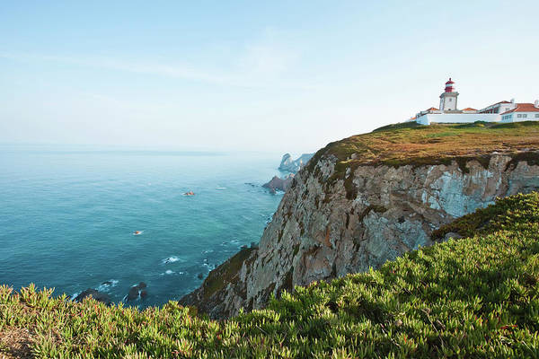 Roca Wall Art - Photograph - Portugal, Sintra, Lighthouse On Steep by Win-initiative
