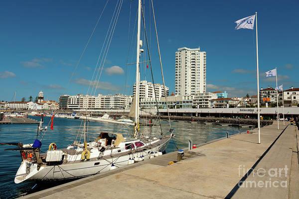 Wall Art - Photograph - Portuguese City And Yacht by Gaspar Avila