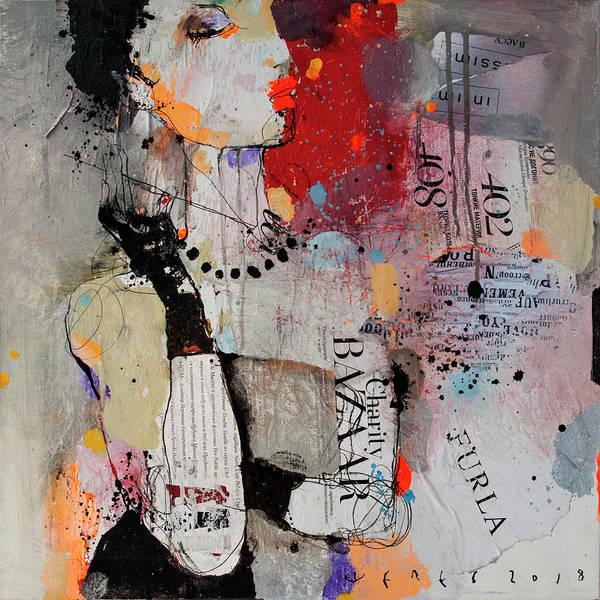 Wall Art - Painting - Posing Girl by Viktor Sheleg