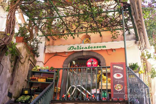 Wall Art - Photograph - Positano Delicatessen Colos by John Rizzuto