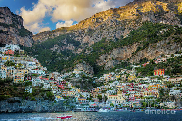 Wall Art - Photograph - Positano From The Sea by Inge Johnsson