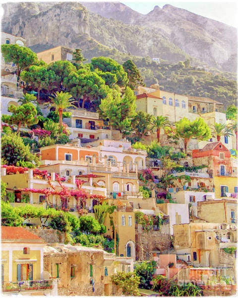 Wall Art - Painting - Positano Italy by Delphimages Photo Creations