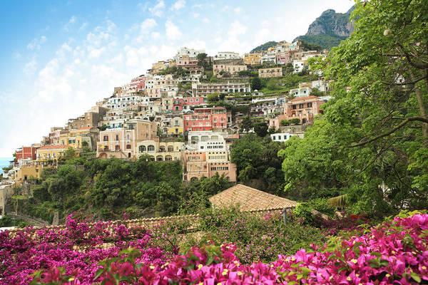 Bougainvillea Photograph - Positano On The Amalfi Coast, Campania by Romaoslo