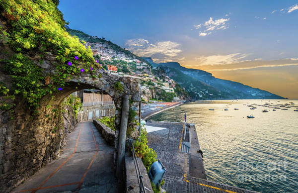 Wall Art - Photograph - Positano Pathway by Inge Johnsson