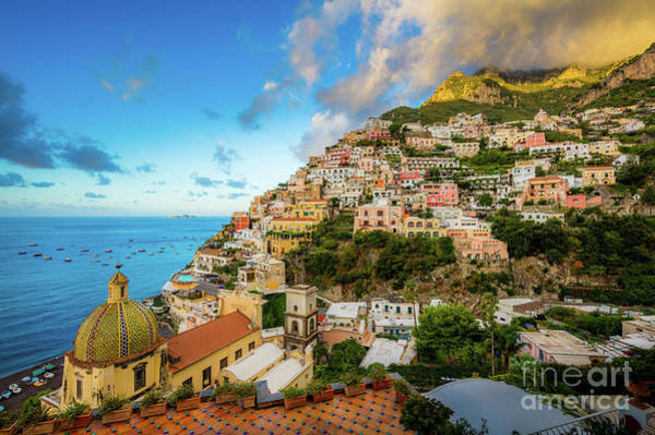 Wall Art - Photograph - Positano September Evening by Inge Johnsson