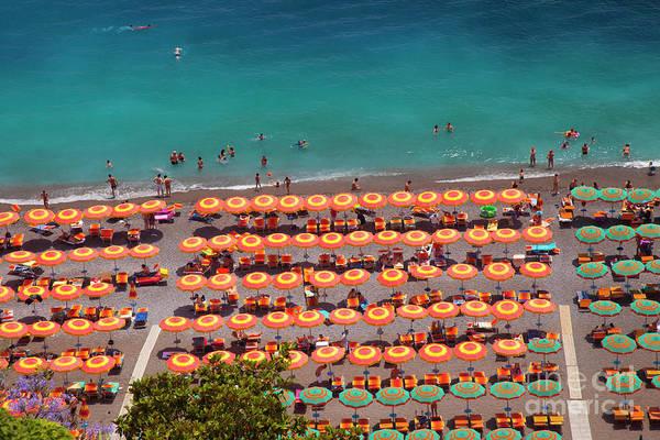 Photograph - Positano Umbrellas by Brian Jannsen