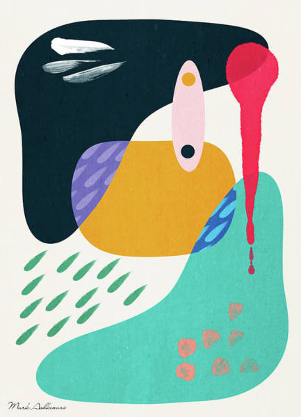 Wall Art - Pyrography - Positive Colors 4 by Mark Ashkenazi
