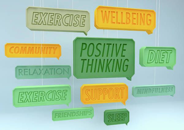 Wall Art - Photograph - Positive Healthy Lifestyle Speech by Ikon Images