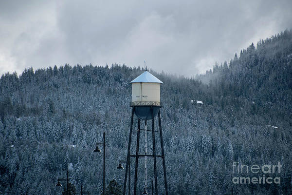 Photograph - Post Falls Water Tower In Winter by Matthew Nelson