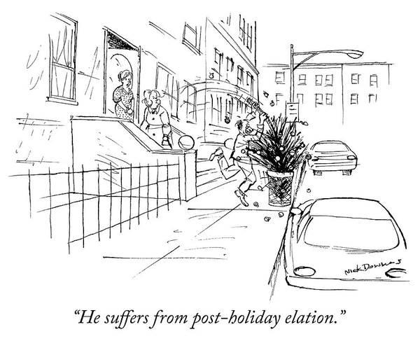 Trash Drawing - Post Holiday Elation by Nick Downes
