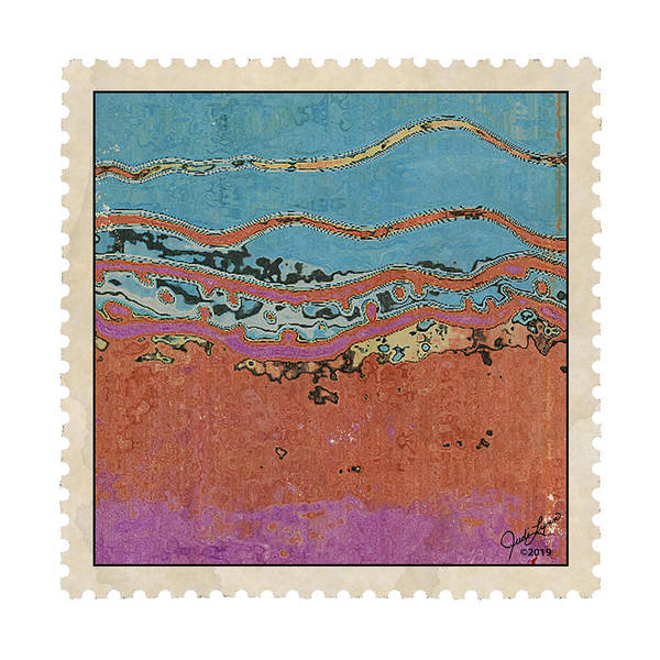 Mixed Media - Postage 1 by The Art Of JudiLynn