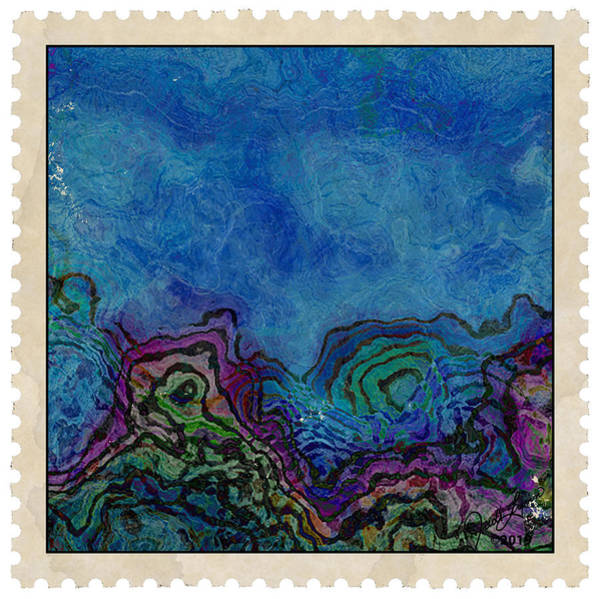 Mixed Media - Postage 8 by The Art Of JudiLynn
