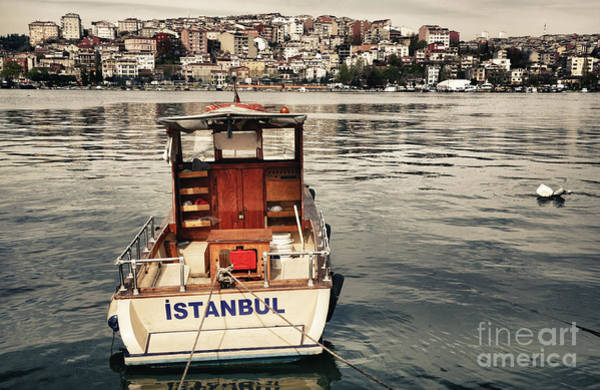 Wall Art - Photograph - Postcard From Istanbul. Motor Boat By by Kn
