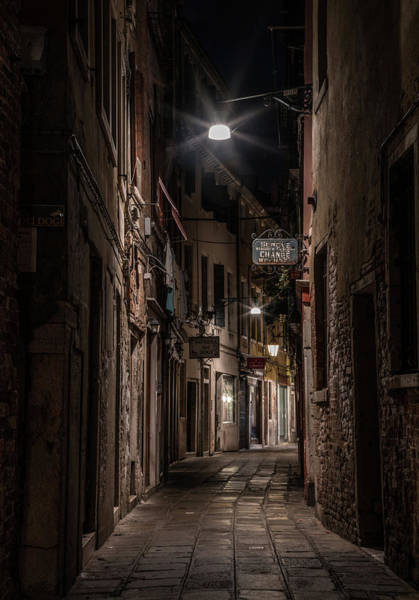 Venezia Wall Art - Photograph - Postcards From Italy - Venice At Night by Jaroslaw Blaminsky