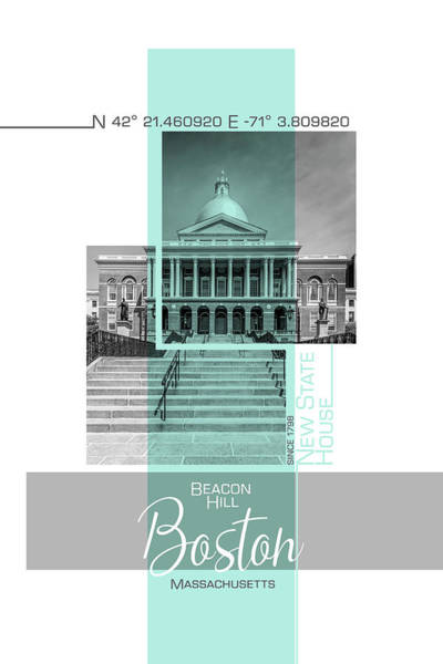 Wall Art - Photograph - Poster Art Boston New State House by Melanie Viola