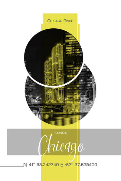 Wall Art - Photograph - Poster Art Chicago River by Melanie Viola