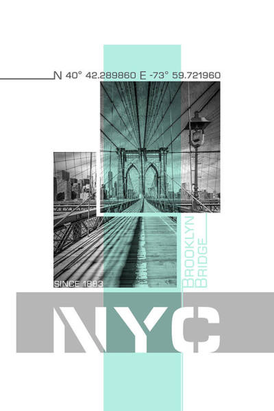 Wall Art - Photograph - Poster Art Nyc Brooklyn Bridge by Melanie Viola