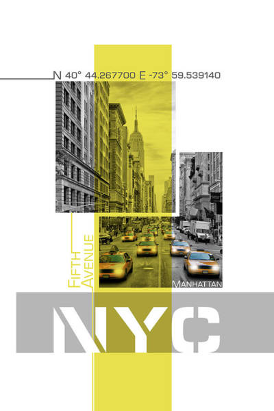 Wall Art - Photograph - Poster Art Nyc Fifth Avenue Traffic by Melanie Viola