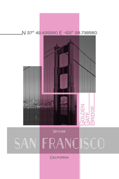 Wall Art - Photograph - Poster Art San Francisco Skyline by Melanie Viola
