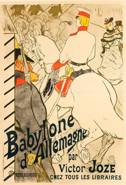 Wall Art - Painting - Poster For A Book By Victor Joze by Henri de Toulouse-Lautrec