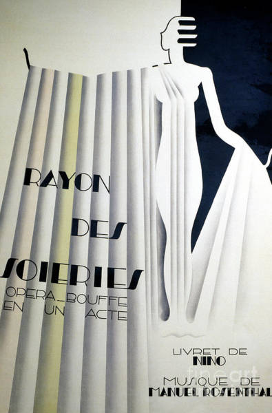 Wall Art - Drawing - Poster For Rayon Des Soiries, Comic Opera, Libretto By Nino, Music By Manule Rosenthal by European School